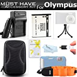 Accessories Bundle Kit For Olympus Stylus Tough TG-610 TG-810 TG-820 iHS TG-830 iHS TG-630 iHS TG-860, TG-870 Digital Camera Includes Replacement LI-50B Battery + Charger + FLOAT STRAP + Case + More