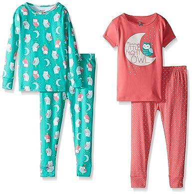 db2a6977c722 Amazon.com  Carter s Baby Girls  4 Piece Slogan Tee PJ Set (Baby ...