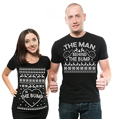 silk road tees christmas couple maternity shirts bump true pregnancy couple matching tees men large