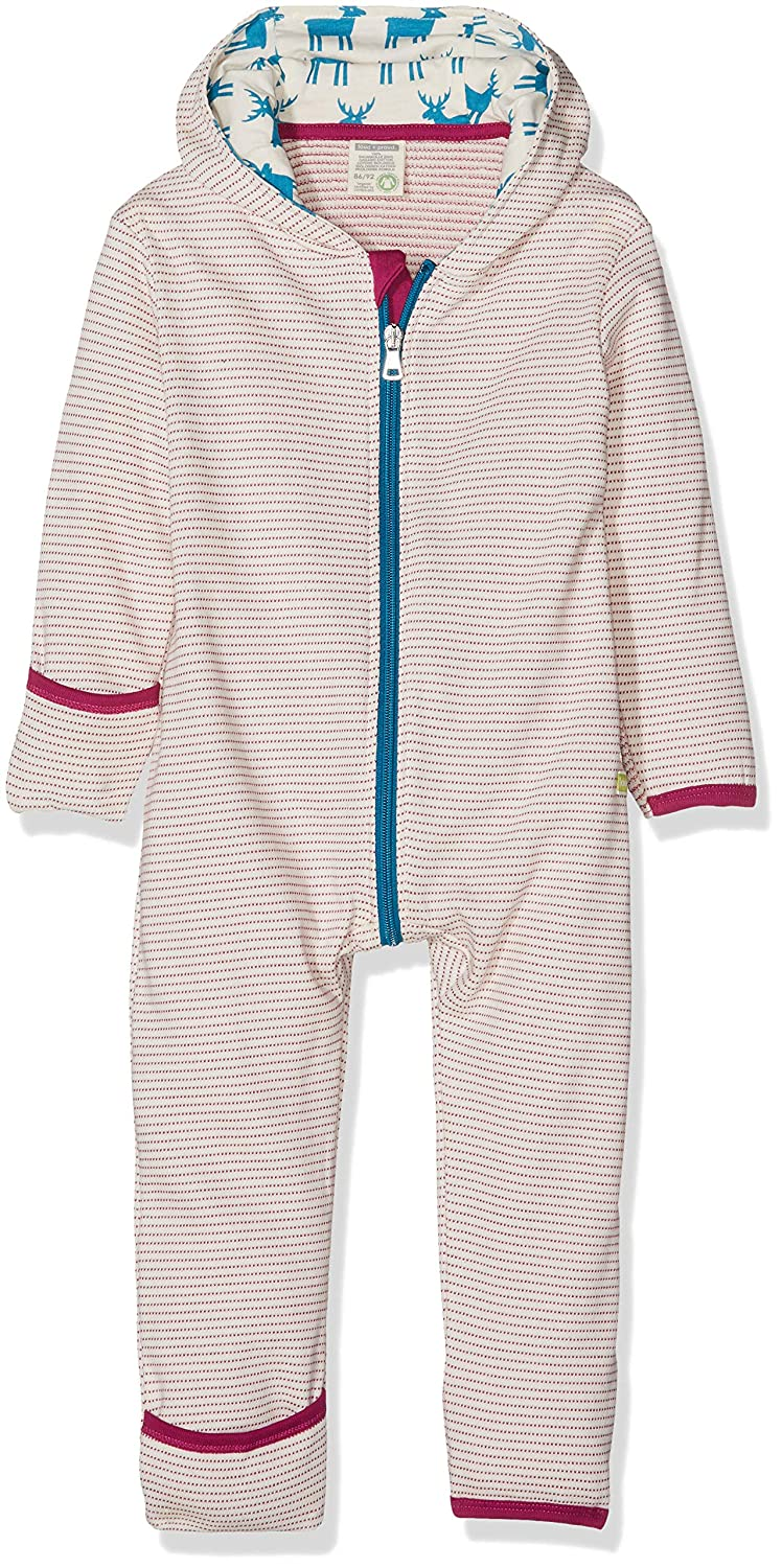 loud + proud Baby Girls' Overall Frottée Footies 5036