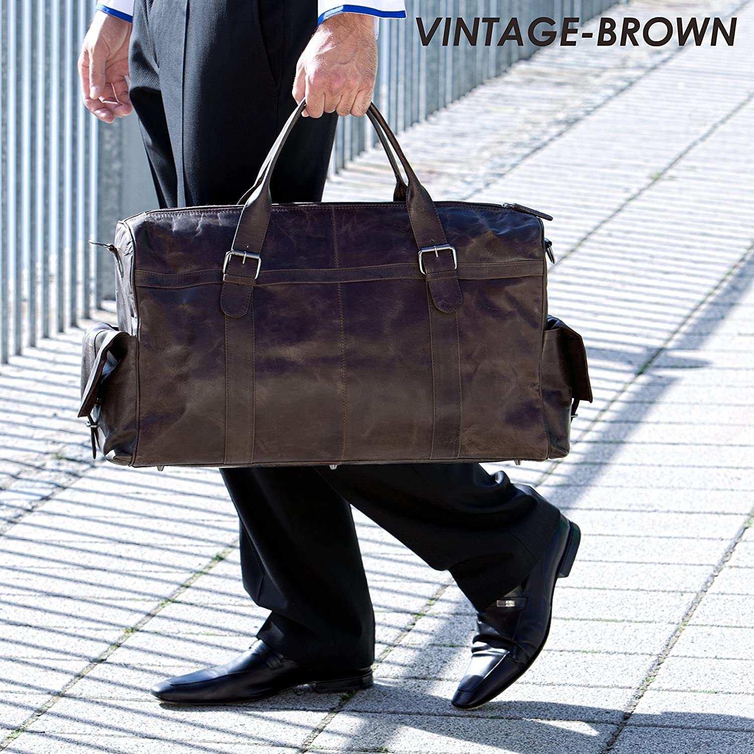 S-XL Vintage Men Real Leather Tote Luggage S Travel Bag Duffle Gym Bag Large new