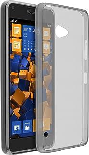 mumbi Schutzhülle für Microsoft Lumia 650 Hülle transparent weiss