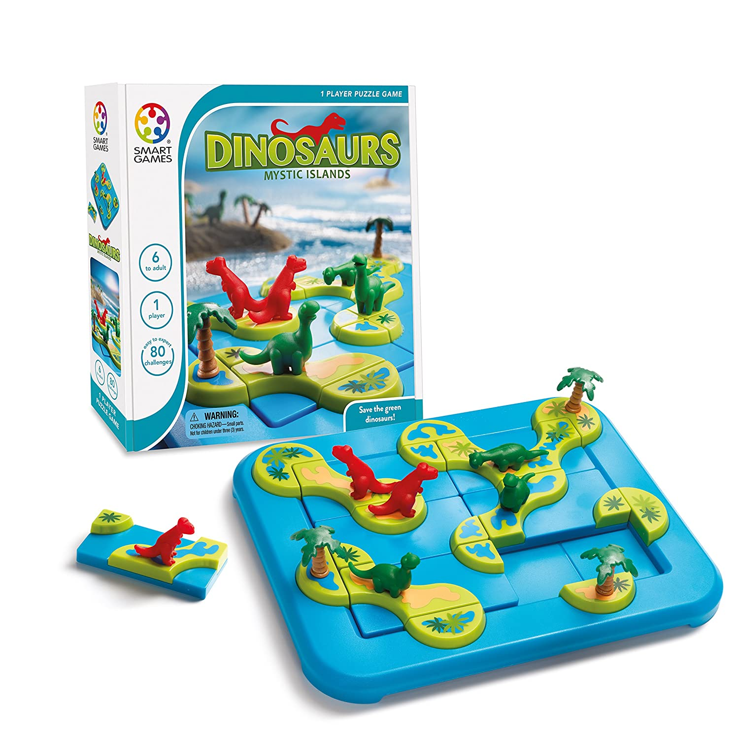 Amazon SmartGames Dinosaurs Mystic Islands Toys & Games