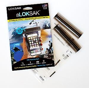 LOKSAK Drybag for iPhone 4 x 7 Inch, 2-Pack (aLOKD2-4x7)