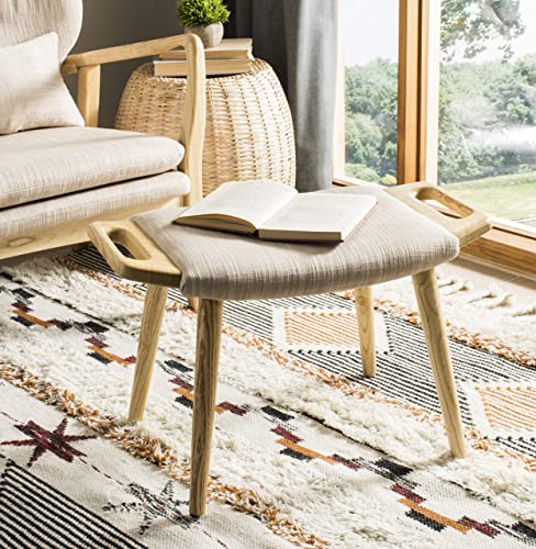 Safavieh Home Yara 25-inch Mid-Century Beige and Natural Bench