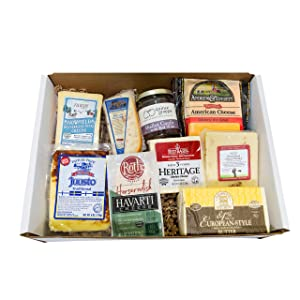 Classic Provisions Artisan Cheese Box – Great Grilled Cheese | Cheese | Cheese Board | Cheese Gift Baskets | Appetizers | Cheese Platter | Gourmet Cheeses | Cheddar Cheese | American Cheese | Gouda