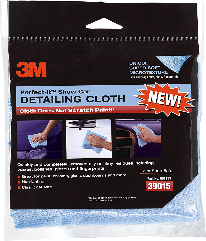 3M Perfect-It Non-Scratch Detailing Cloths, Blue, 6Count