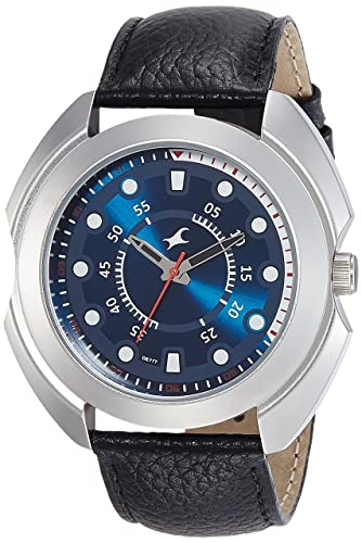 7. Fastrack Analog Blue Dial Men's Watch-NK3117SL04