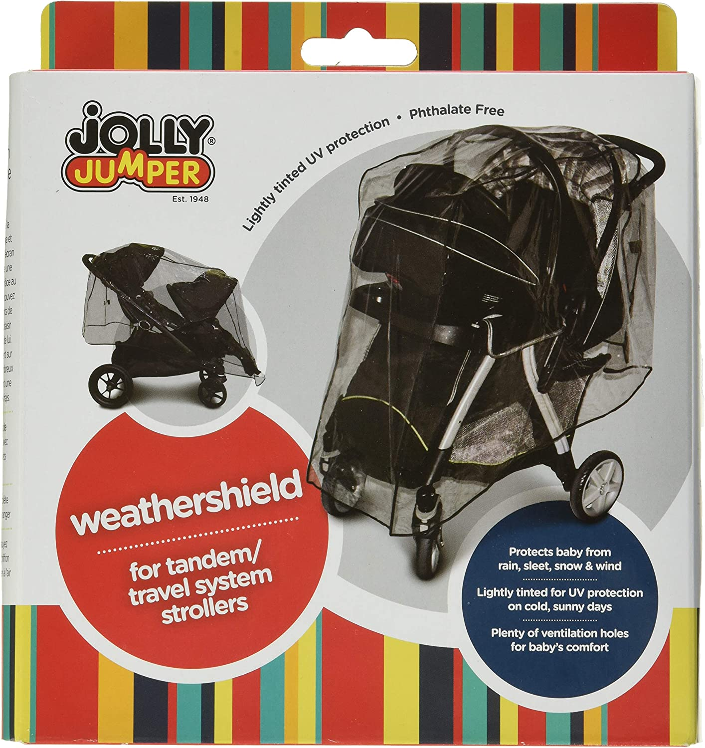 NEW JOLLY JUMPER WEATHERSHIELD FOR INFANT CAR SEAT WITH VENTILATION HOLES