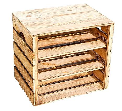Resistente Zapatero Caja Incluye Taburete Hedda de Natural/, vetado con Dos estantes/