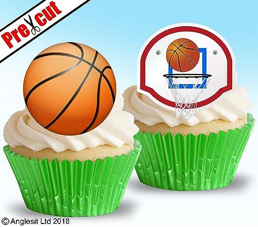 Bola de balón de baloncesto precortada y accesorio comestible de ...