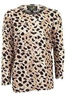 Fantasia Boutique ® Ladies Long Sleeve Leopard Print Sweater Womens Jumper Size S/M - M/L