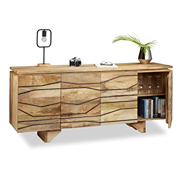 Native Home Sideboard Mit Muster Kommode Mango Holz Highboard