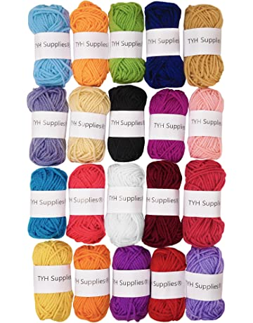 TYH Supplies Acrylic Yarn Assorted Colors Skeins - Perfect for Mini Knitting  and Crochet Project ( 5b9acdf144a9