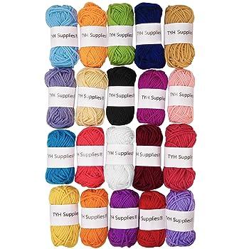 TYH Supplies 20-Pack 22 Yard Acrylic Yarn