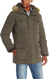 Tommy Hilfiger Mens Outerwear Micro Twill Full Length Hooded Parka 155AK225