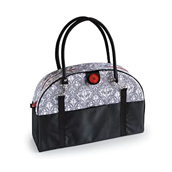 Amazon 2 Red Hens Coop Carry All Diaper Bag Grey Damask