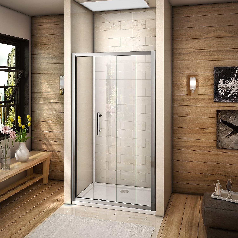 100x185cm porte de coulissante porte de douche verre securit pas de receveur
