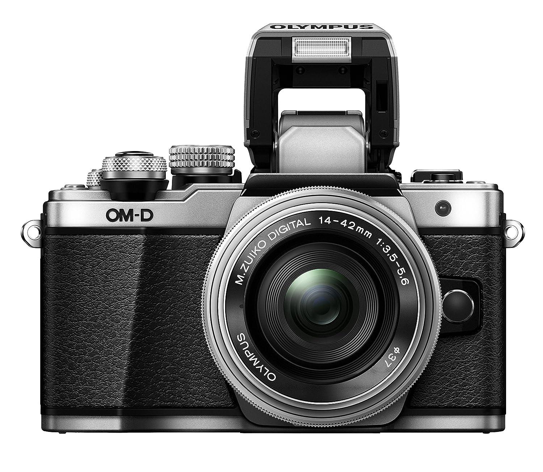 Amazon Olympus OM D E M10 Mark II Mirrorless Digital Camera with 14 42mm EZ Lens Silver Camera &