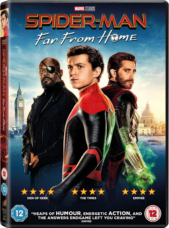 Spider Man Far From Home Dvd 2019 Amazon Co Uk Tom Holland Zendaya Jake Gyllenhaal Jon Watts Tom Holland Zendaya Dvd Blu Ray