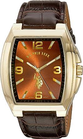 U.S.POLO ASSN. USC50177 - Reloj de Pulsera Hombre, Color Marrón ...