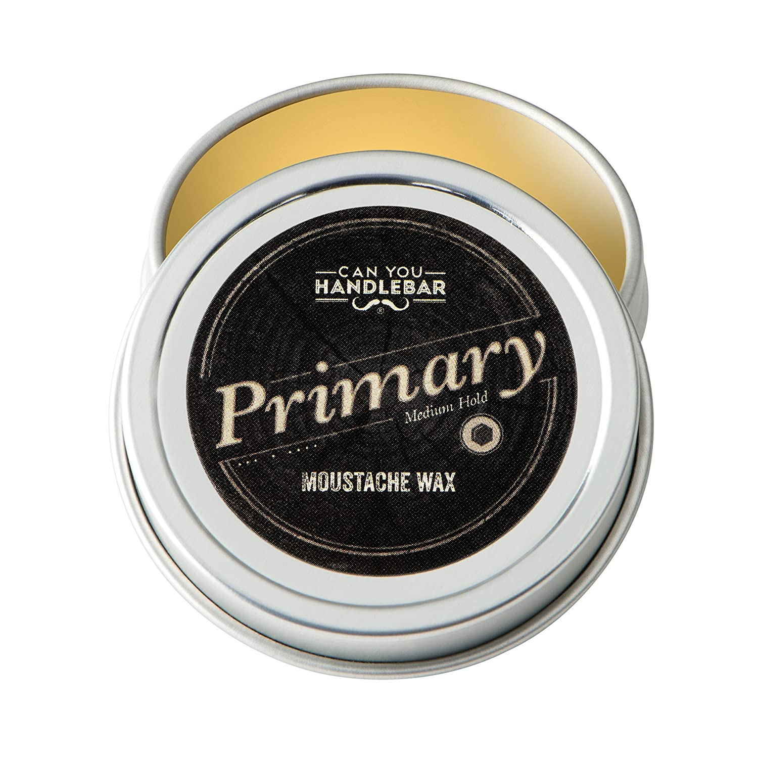 Primary Moustache Wax | Natural, All Day Hold | 1 OZ Can CanYouHandlebar