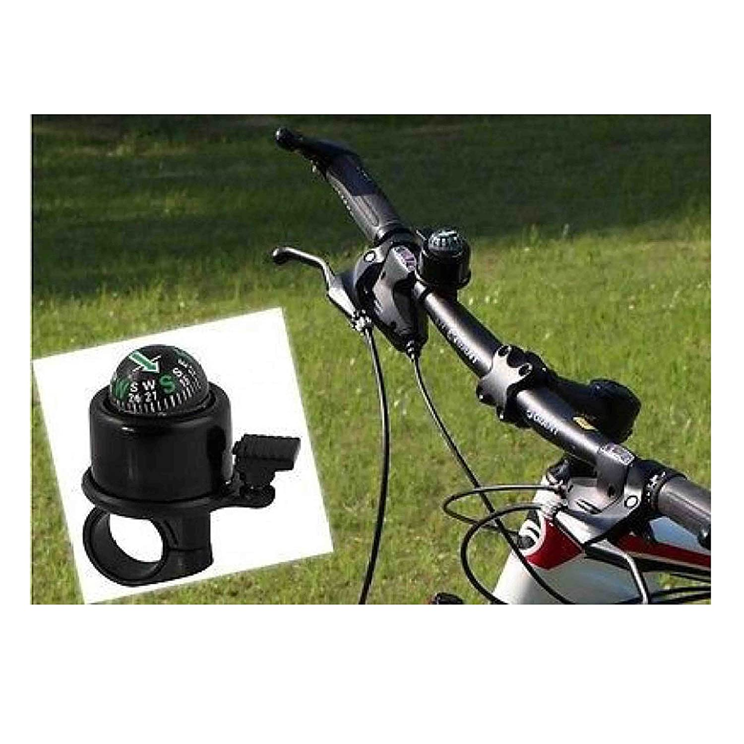 Bike Compass Ping Bell Ring Horn Bicycle Cycling Front Handlebar Outdoor Sport