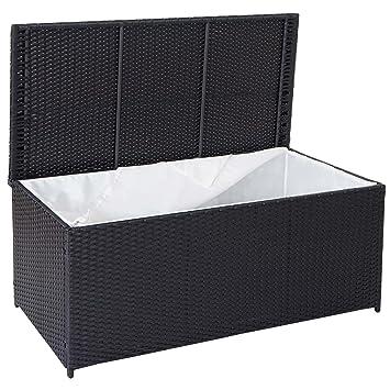 Mendler Poly Rattan Kissenbox Barry Truhe Auflagenbox Gartenbox