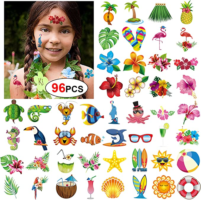 Konsait Tatuajes Temporales para Niños Niñas Adultos, 96pcs ...