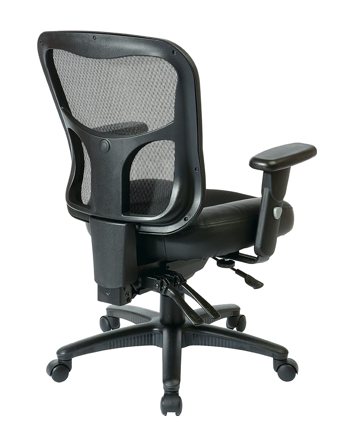 high office furniture atlanta. brilliant high amazoncom office star breathable progrid back with leather and mesh seat  adjustable black managers chair nylon base kitchen u0026 dining throughout high furniture atlanta