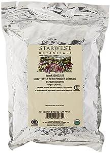 Starwest Botanicals Organic Milk Thistle Seed Powder, 1 Pound