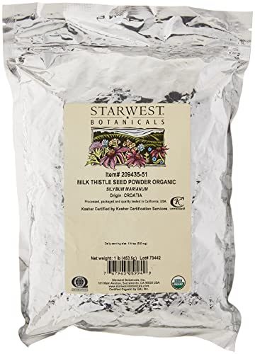 Starwest Botanicals Organic Milk Thistle Seed Powder, 1 Pound
