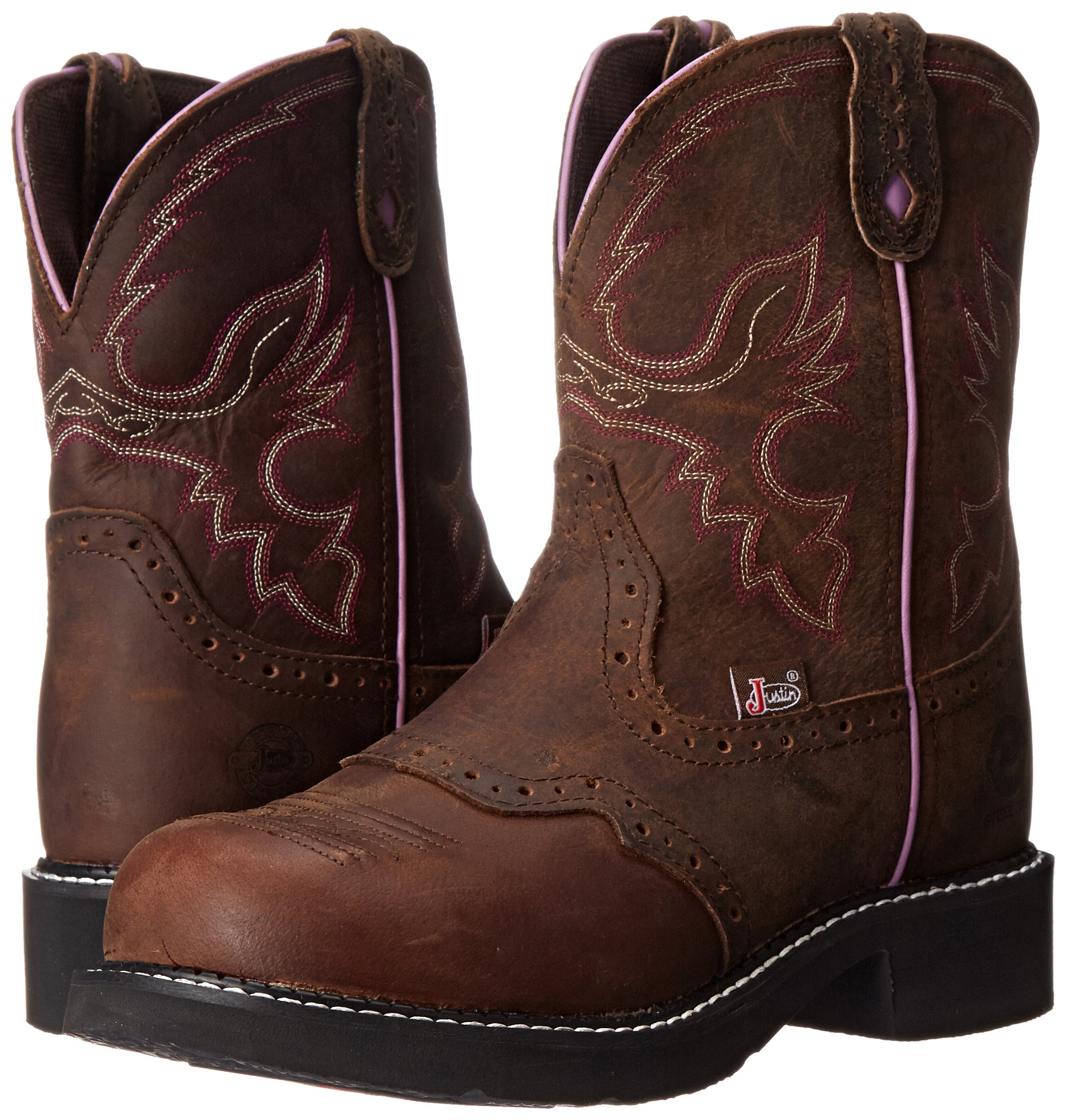 Justin Boots Women's Gypsy Collection 8'' Steel Toe,Aged Bark,6B by Justin Boots (Image #6)