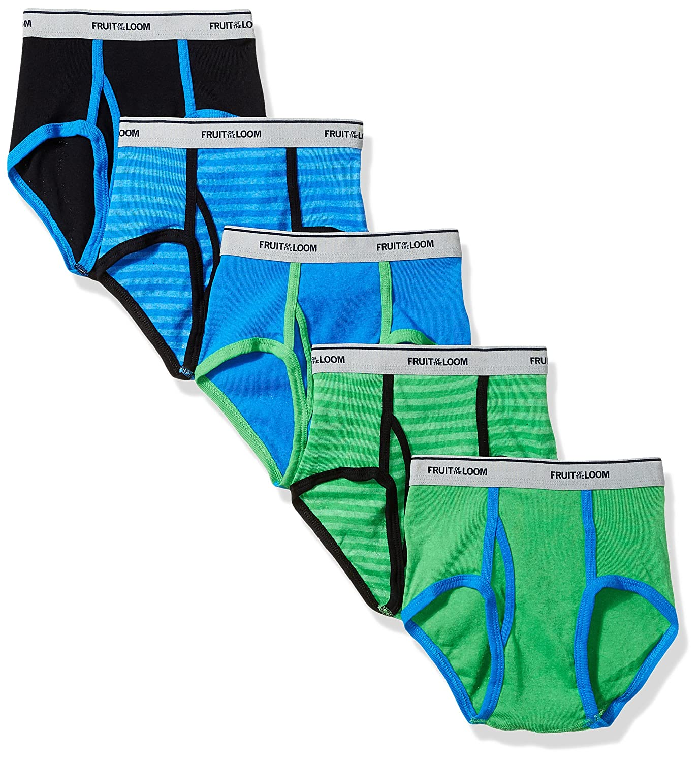 Fruit of the Loom Boys' Fashion Brief (Pack of 5) 5P46BPS
