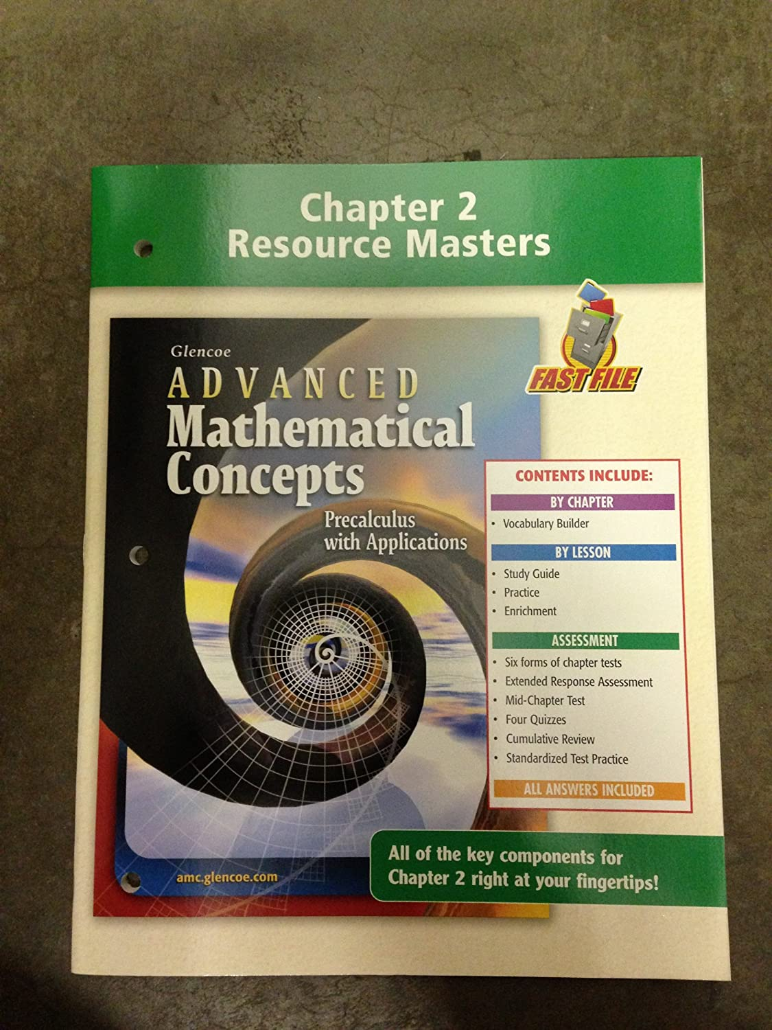 Chapter 2 Resource Masters Book to Accompan Glencoe's Advanced Mathematical  Concepts: Precalculus with Applications: Amazon.co.uk: Office Products