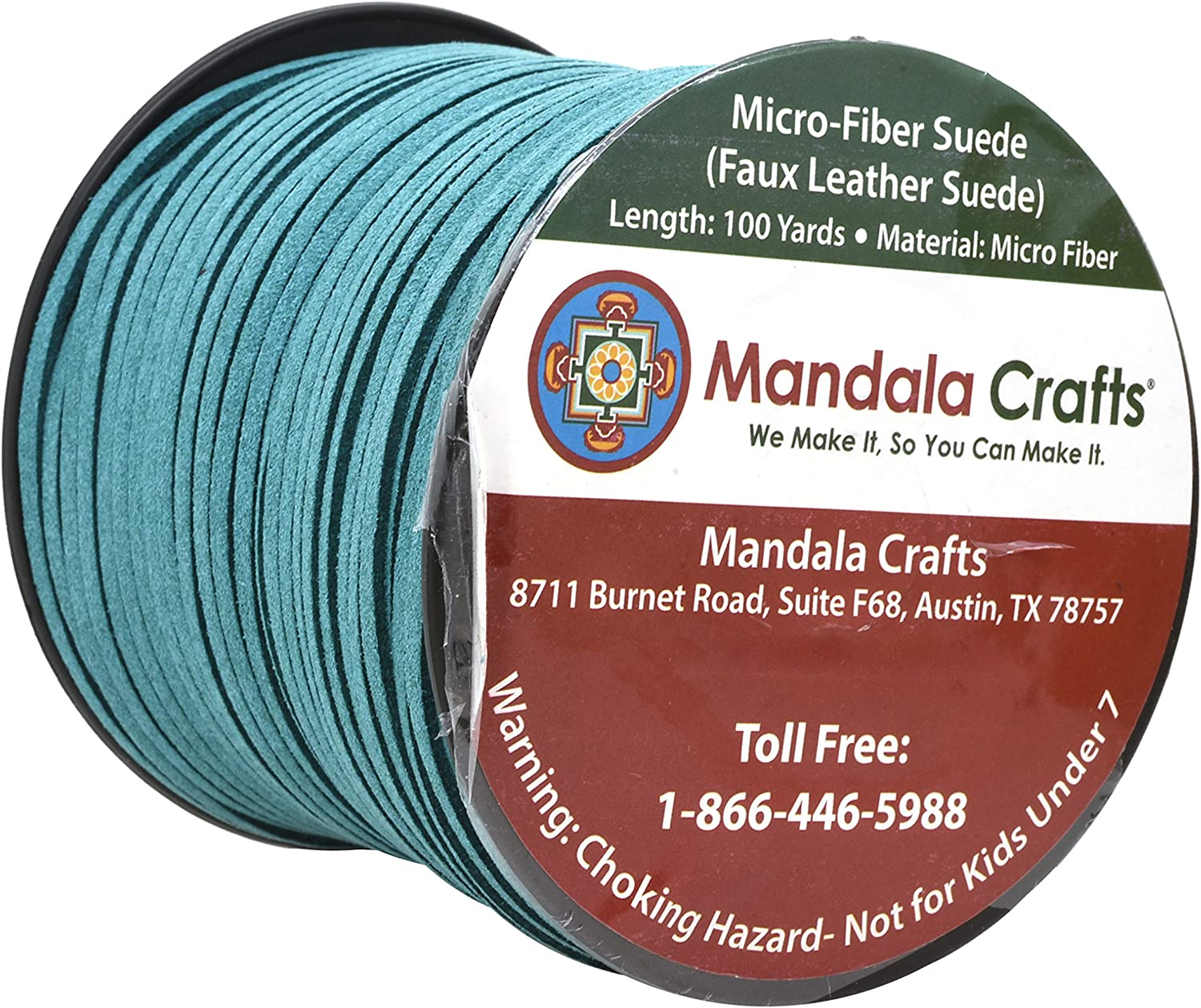 Mandala Crafts 100 Yards 2.65mm Wide Jewelry Making Flat Micro Fiber Lace Faux Suede Leather Cord Beige