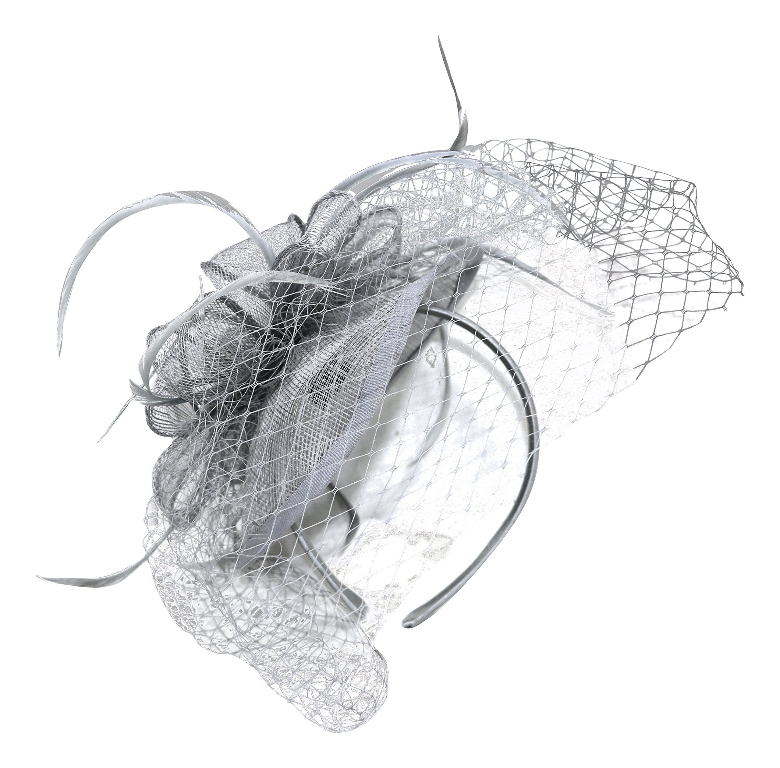 Fine Millinery by August Hat Co Dreamy Fascinator Hat (Grey, One Size)