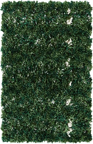 Well Woven Nomad Parley Modern Moroccan Trellis Green Soft Fluffly Shag Accent Area Rug 3 11 x 5 3 Doormat, 2 x 3 ,