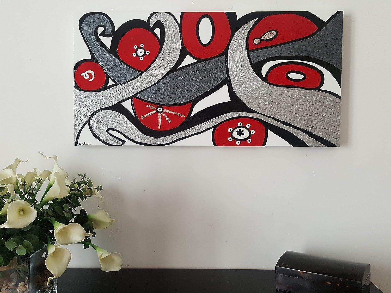 Doron arte quadro moderno astratto dipinto a mano pronto da