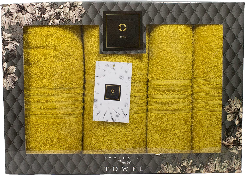Anthrazit Cotone Set di 4 asciugamani di alta qualit/à con set regalo per sauna e bagno 2 teli doccia 2 asciugamani Cavar Home spugna 100/% cotone 2x 70x140cm 2x 50x100cm