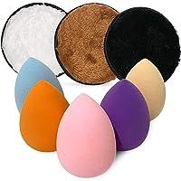 Nu Fash'n 5 pcs Beauty Makeup Sponge 3 pcs of Cleansing Pads Original Blenders set, Make-Up Remover Cloth -Soft & Gentle - Washable & Reusable