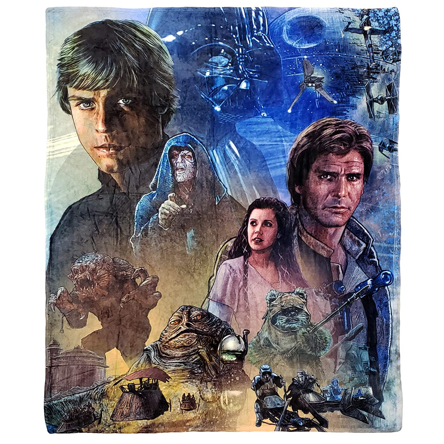 Return of The Jedi Star Wars Silk Touch Throw Blanket 50  x 60 , One Size Multi color