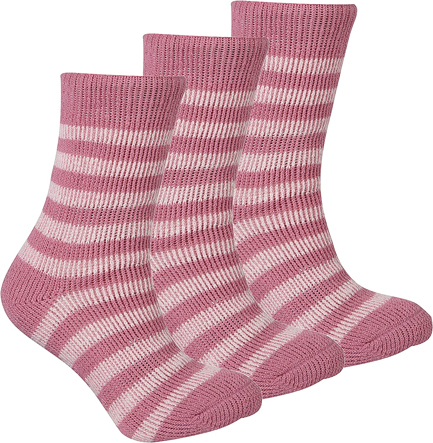 RED TAG Childrens Kids Girls Extreme Thermal Socks Striped W//Grippers TOG 2.45