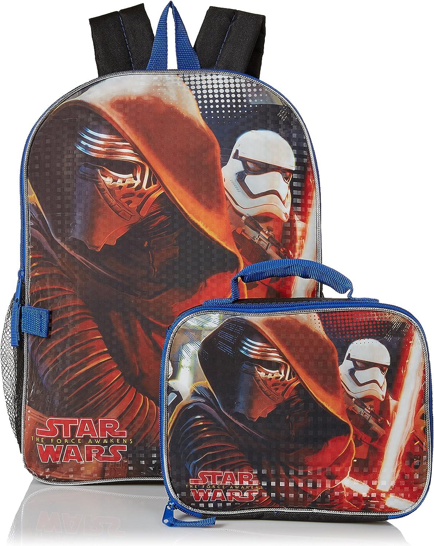 "Boys Star Wars 16/"" Backpack /& Detachable Lunch Bag Kylo Ren Stormtrooper"
