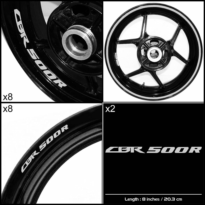 Stickman Vinyls Honda CBR 500rオートバイデカールステッカーパッケージ反射シルバーグラフィックキット   B06XJX7F8F