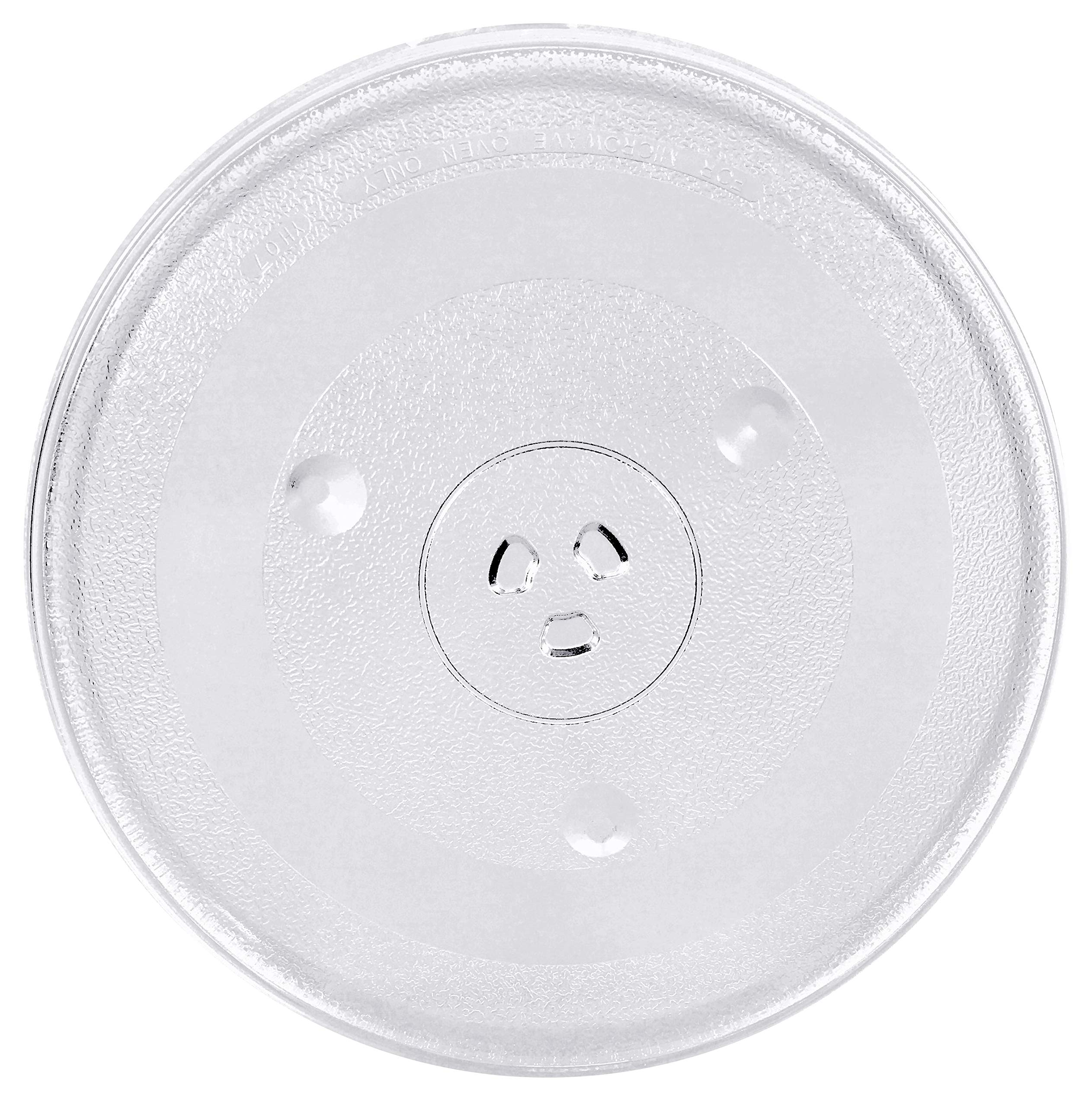12.4'' Microwave Oven Turntable Replacement Part | 12.4 Inch Micro Wave Glass Plate Replacement Kit | 31.5 cm Round Rotating Ring Dish Tray | 315 mm Circular Glass Turn Table Top For Microwaves. by MRIdea Creations