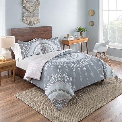 Vue Mira Comforter Set, Full/Queen, Gray