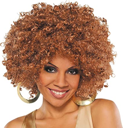 Blonde Runway Fro Wig Costume Accessory Adult Halloween