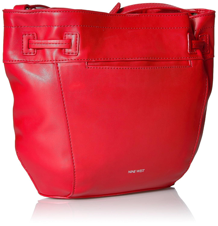c58d8aa271b40 Nine West Take a Lift Crossbody Bucket Bag, Dynasty Red/Dark Camel:  Amazon.ae: DUAE TRADE