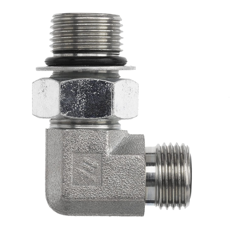 5//8 Male Adjustable O-Ring Boss x 5//8 Female NPTF Swivel 7//8-14 SAE ORB x 3//8-18 NPSM Thread Inc. Brennan Industries 6901-10-06-NWO-FG Forged Steel 90 Degree Elbow Tube Fitting 7//8-14 SAE ORB x 3//8-18 NPSM Thread